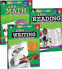 180 Days: 180 Days of Reading, Writing and Math for Sixth Grade 3-Book Set...
