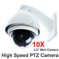 "360° CCTV 10x Zoom 1/3"" SONY CCD 700TV Outdoor MINI Dome High Speed PTZ Camera"