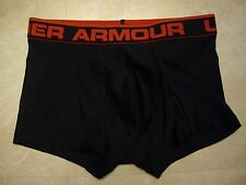 NWOT! MEN'S UNDER ARMOUR FITTED BOXER BRIEF, SIZE SMALL, BLACK & RED