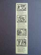 Vintage BOOKMARK 1986 Bodleian Library OPIE APPEAL Childrens Books Nursery Rhyme