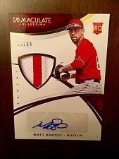 MATT BARNES 2015 PANINI IMMACULATE COLLECTION PRIME SP RC PATCH AUTO /99 RED SOX