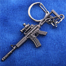6.5CM Cross Fire CF Assault Rifles M4A1 Keychain Mini Metal Weapon Model KeyRing