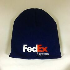 FedEx Express Beanie Hat Decky Navy Custom Embroidery Short Knit