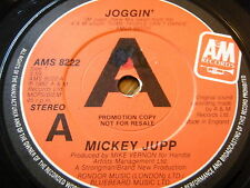 """MICKEY JUPP - JOGGIN'  7"""" VINYL PROMO"""