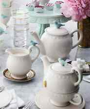 Bombay Duck 'Flight of Fancy' Tea for One Teapot & Cup. Cream w. Mint Green Bird