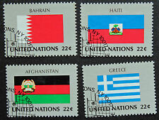 NATIONS-UNIS (new-york) timbre / stamp Yvert et Tellier n°504 à 507 obl (Cyn13)