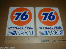 PAIR Union 76 Official Fuel NASCAR vintage New contingency racing decal Stickers