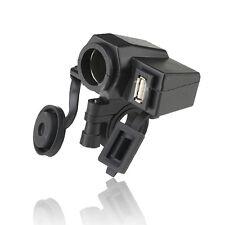 Motorcycle 12V Cigarette Lighter USB GPS Power Port Outlet Socket Weatherproof