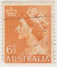 (PDX515) 1953 AU 6½d Orange QEII NO W/M (F)