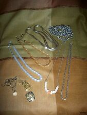 Lot of 8 Vintage Fun Costume Necklaces Wear or Jewelry Replacment Parts Crafts