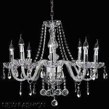 Marie Therese Trasparent Lampada a sospensione 8-braccio Lampadario di Cristallo