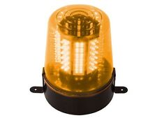 LAMPE GYROPHARE PROJECTEUR ORANGE 108 LED VITESSE DE ROTATION REGLABLE