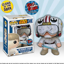 Funko Pop! Vinyl Custom Star Wars Luke [Jedi Training] GITD by Go! Geek Customs