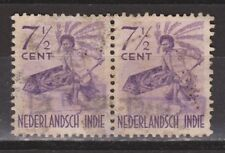 Indonesia Sumatra 71 OVERPRINT 821v pair used ; NOW MANY JAPANESE OCCUPATION