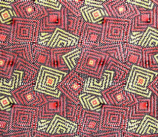 African Fabric 1/2 Yard LIGHTWEIGHT Cotton PINK Abstract