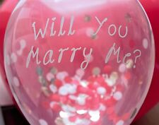 "Wedding Proposal Confetti Balloons - a 3 Pack of ""Will You Marry Me?"" Balloons"
