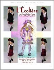 """L'Écolière""  18 inch Ball Jointed Doll BJD Kaye Wiggs Fashion Clothing Pattern"