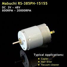Mabuchi RS-385PH 24v DC 3V-48V 8600RPM Carbon bürste DC Motor For Office Printer