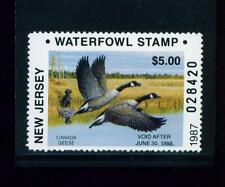 New Jersey State Duck Stamp 1987 $5.00 at face value
