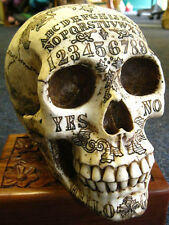 OUIJA SPIRITS SKULL FIGURE Ornament GOTHIC Occult HORROR Wiccan CELTIC PAGAN