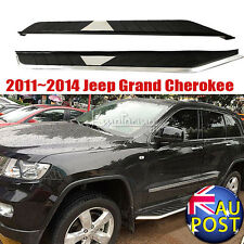 Deluxe Chrome/Black Running Boards Side Step Fits 2011~2014 Jeep Grand Cherokee