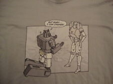 Threadless Brand Funny Toy Robot Bad Boyfriend But Baby I can Change T Shirt 2XL