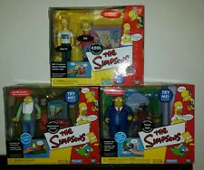 PLAYMATES THE SIMPSONS WOS Retirement Castle, Town Hall, & KBBL NEW