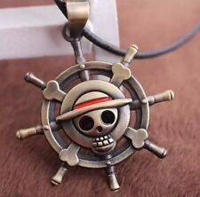 One Piece Anime Helm Logo Mark Alloy Necklace Pendant US Seller