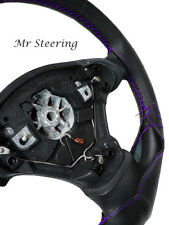 FITS 95-01 BMW Z3 REAL TOP QUALITY LEATHER STEERING WHEEL COVER PURPLE STITCHING