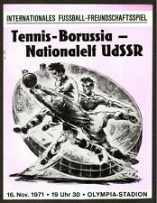 Programme Tennis Borussia Berlin Germany - USSR national 1971 with signature
