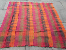 Old Tribal Nomadic Hand Made Persian Oriental Pink Wool MOJJ Kilim 165x184cm