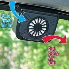 Solar Power Car Window Fan Auto Ventilator Cooling Vehicle Air Vent Portable JS