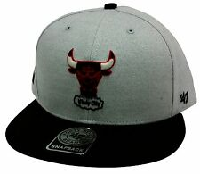 The 47 Brand Satchel Chicago Bulls Gray & Black Snapback NBA Basketball Bull