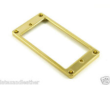 METAL HUMBUCKER RING LOW FLAT - GOLD FITS GIBSON & CHARVEL JACKSON GUITARS