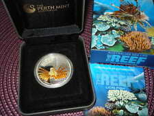 2009 AUSTRALIA 1/2 DOLLAR LIONFISH SILVER first coin in a serie - REEF SEA LIFE