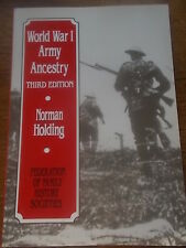 World War 1 Army Ancestry Family History Book WWI Military by Norman Holding VGC