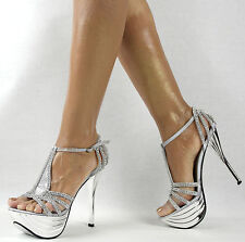 Damenschuhe 36-41 NEU Luxus Riemchen Pumps Damen Schuhe Party High Heels Plateau