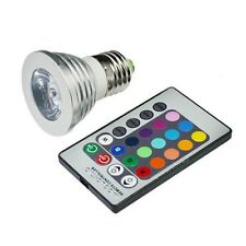 Energy saving E27 3W RGB LED Bulb Lamp light 16 Color changing + IR Remote  F