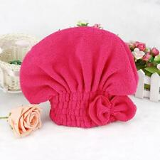Hot Textile Useful Dry Microfiber Turban Quick Hair Hats Towels Bathing Hot Pink