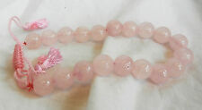 Set of Hand Cut and Polished Rose Quartz Prayer Beads - New
