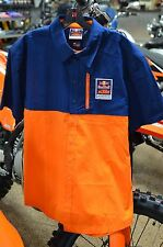 KTM Powerwear Red Bull KTM Performance Team Shirt Orange Blue Men's Size XL