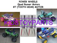 TWO New 12-18 VOLT Power Wheels 8T Motor s For the Quad Runner and Toddler Jeeps