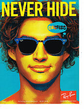 PUBLICITE ADVERTISING 094  2009  RAY BAN  lunettes NEVER HIDE  femme