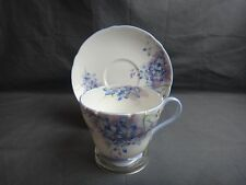 Shelley BLUE SPRAY Cup & Saucer ~ Henley Shape~