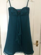 Debut Size10 Teal Evening Dress , Lined