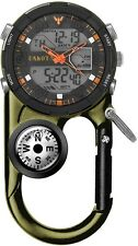 Dakota Watch Angler II Ana-Digi, Green Case, Carabiner Clip & Compass 3725-2