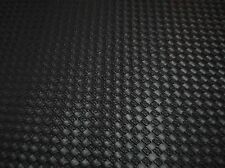 "4 yd 12"" Piece - Synthetic Leather Vinyl Upholstery Fabric 54"" Wide -Black Weave"