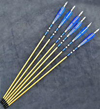 Top Sale 6pc Wooden European War-style Turkeys Feather Arrow For Longbow Bow 31""