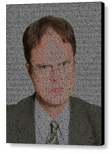 The Office Dwight Schrute Quotes Mosaic AMAZING Framed Limited Edition Art w/COA