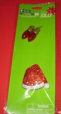 "Flashing Santa Hat Pin & Light Bulb earrings.  Earrings 1.5"" tall, hat 2"" tall"